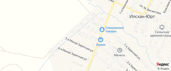 Заречная Малая 4-я улица на карте села Илсхан-Юрт Чечни с номерами домов