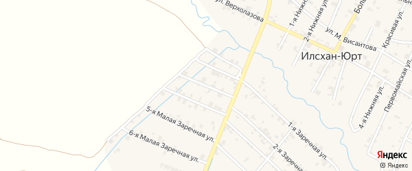 Заречная Большая улица на карте села Илсхан-Юрт с номерами домов