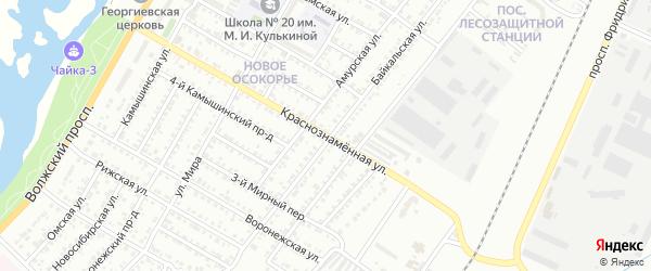 Краснознаменная улица на карте Энгельса с номерами домов
