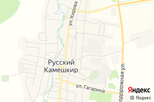 Карта пос. Камешкир Пензенская область