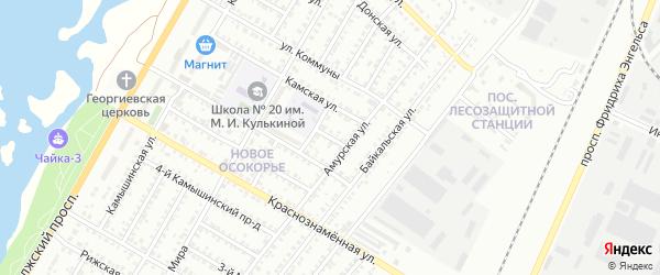 Амурский проезд на карте Энгельса с номерами домов