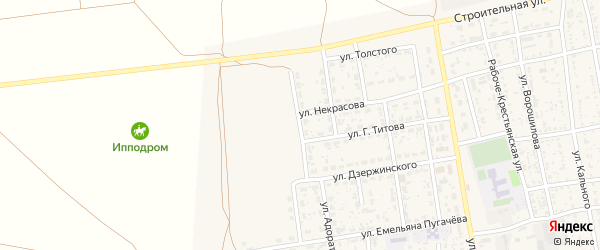 Улица Маяковского на карте села Черного Яра Астраханской области с номерами домов