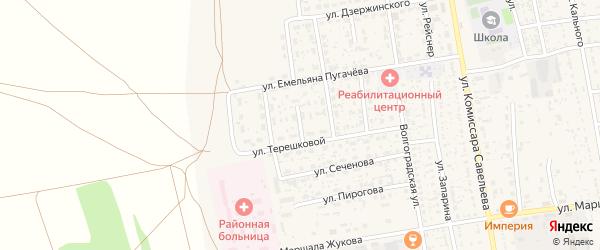 В.Терешковой переулок на карте села Черного Яра Астраханской области с номерами домов