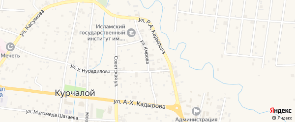 Улица Кирова на карте села Курчалой с номерами домов