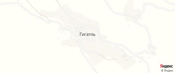 Зеленная улица на карте села Гигатля с номерами домов