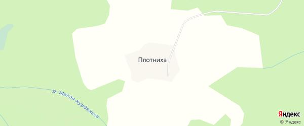 Карта деревни Плотниха в Вологодской области с улицами и номерами домов