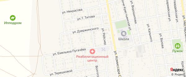 Улица Фрунзе на карте села Черного Яра Астраханской области с номерами домов
