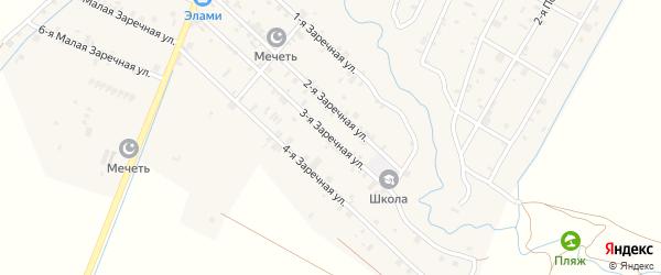 Большая Заречная 3-я улица на карте села Илсхан-Юрт Чечни с номерами домов