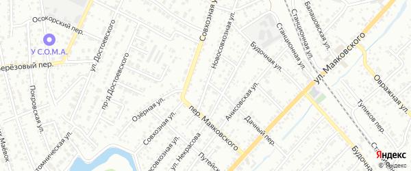Новосовхозная улица на карте Энгельса с номерами домов