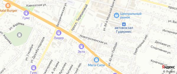 Улица Умарова на карте села Верхнего Герзель с номерами домов