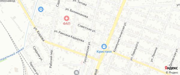 Грозненская улица на карте Гудермеса с номерами домов