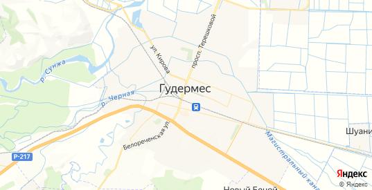Карта Гудермеса с улицами и домами подробная. Показать со спутника номера домов онлайн