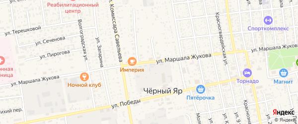 Улица им Маршала Жукова на карте села Черного Яра Астраханской области с номерами домов