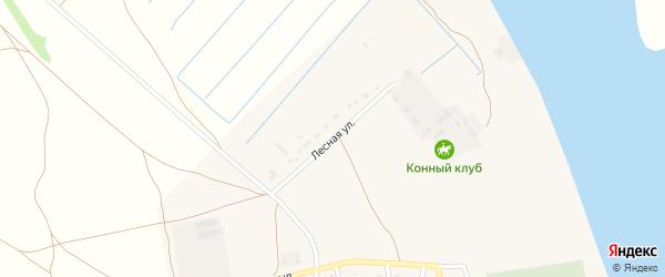 Лесная улица на карте села Черного Яра Астраханской области с номерами домов