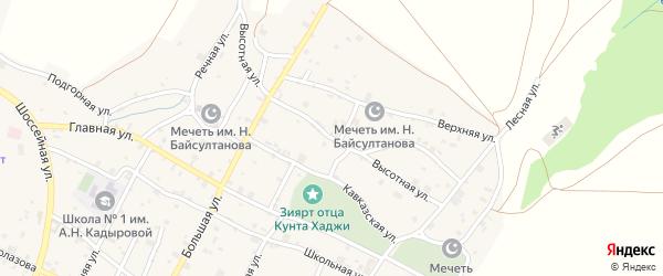 Высотная улица на карте села Илсхан-Юрт Чечни с номерами домов