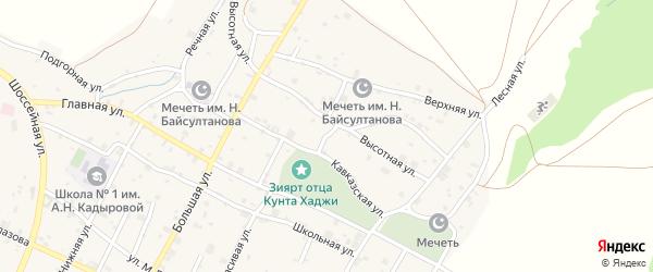 Высотный переулок на карте села Илсхан-Юрт с номерами домов