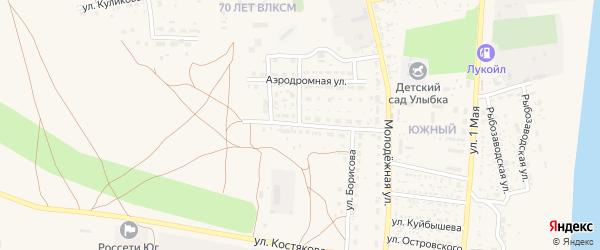 Улица И.Борисова на карте села Черного Яра Астраханской области с номерами домов