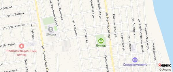 Улица Валова на карте села Черного Яра Астраханской области с номерами домов