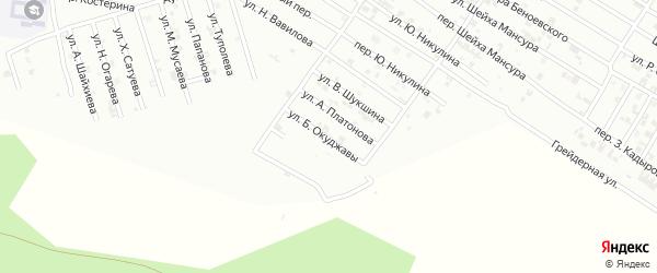 Улица Б.Окуджавы на карте Гудермеса с номерами домов