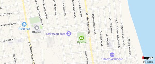 Красноармейская улица на карте села Черного Яра Астраханской области с номерами домов