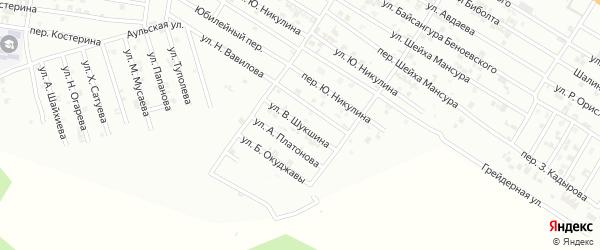Улица В.Шукшина на карте Гудермеса с номерами домов