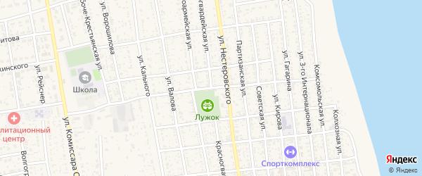 Красногвардейская улица на карте села Черного Яра Астраханской области с номерами домов