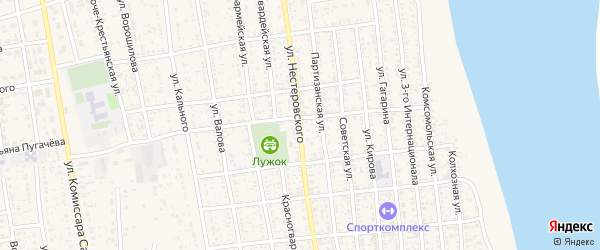 Улица Нестеровского на карте села Черного Яра Астраханской области с номерами домов