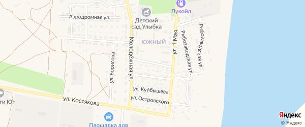 Улица Чернышевского на карте села Черного Яра Астраханской области с номерами домов