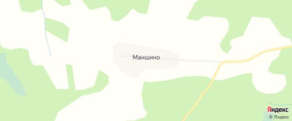 Карта деревни Маншино в Вологодской области с улицами и номерами домов