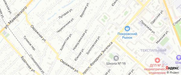 Южная улица на карте Энгельса с номерами домов