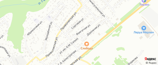 Фрегатная улица на карте Саратова с номерами домов