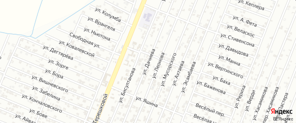 Улица Дачиева на карте Гудермеса с номерами домов