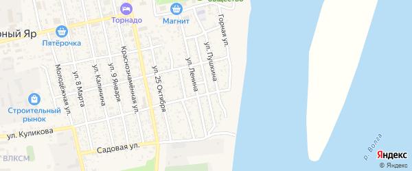 Союзная улица на карте села Черного Яра Астраханской области с номерами домов
