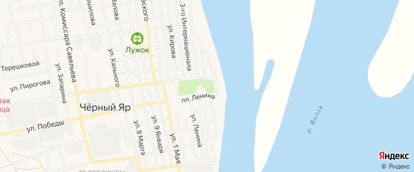 Производственная точка Николаевская территория на карте села Черного Яра Астраханской области с номерами домов