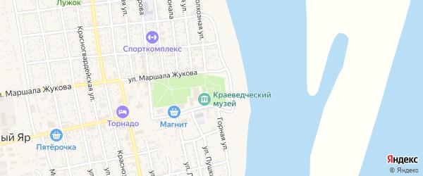Новая Центральная животноводческая точка на карте села Черного Яра Астраханской области с номерами домов