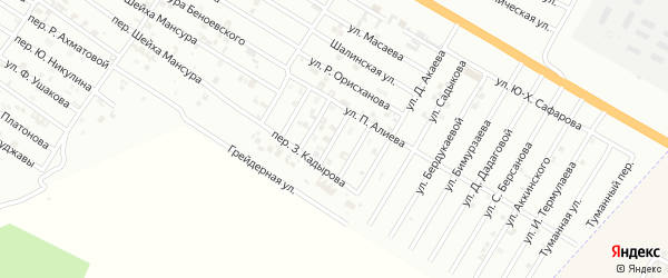 Улица Р.Даутукаева на карте Гудермеса с номерами домов