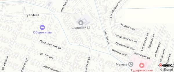 Улица Дунаевского на карте Гудермеса с номерами домов