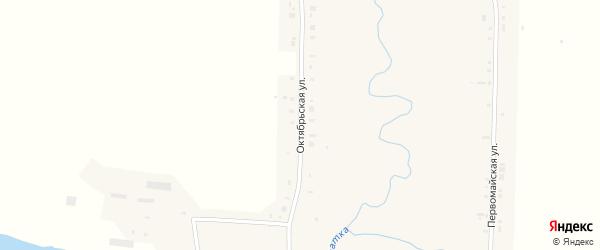 Октябрьская улица на карте села Кочкурово Мордовии с номерами домов