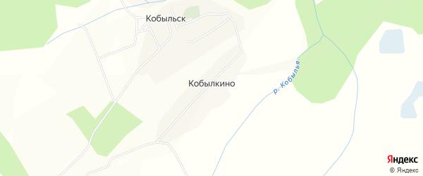Карта деревни Кобылкино в Вологодской области с улицами и номерами домов