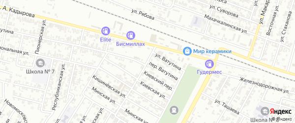 Переулок Ватутина на карте Гудермеса с номерами домов