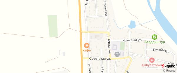 Улица Гагарина на карте села Соленого Займища Астраханской области с номерами домов