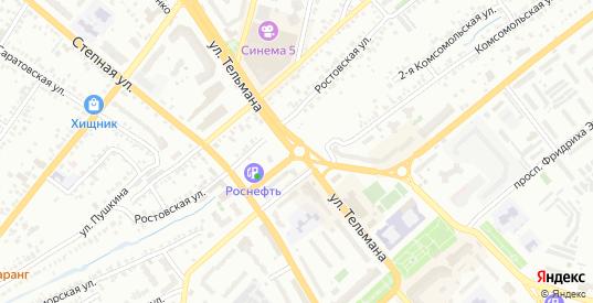 1-й Славянский переулок в Энгельсе с номерами домов на карте. Спутник и схема онлайн