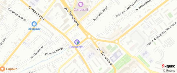 Сиреневый проезд на карте Энгельса с номерами домов