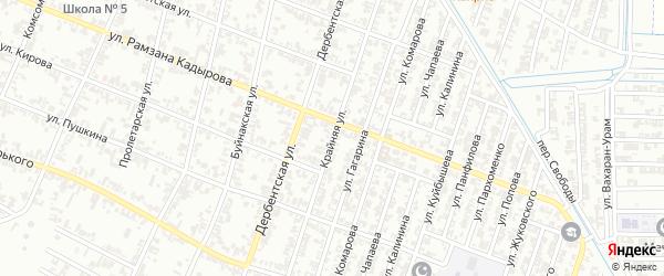 Крайняя улица на карте Н.Беноя поселка с номерами домов