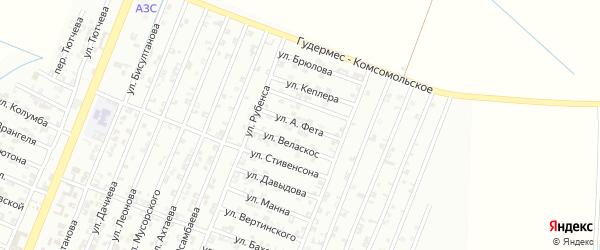 Улица А.Ивановца на карте Гудермеса с номерами домов