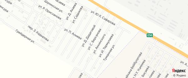 Улица С.Г.Билимханова на карте Н.Беноя поселка с номерами домов