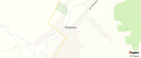 Карта села Ломаты в Мордовии с улицами и номерами домов