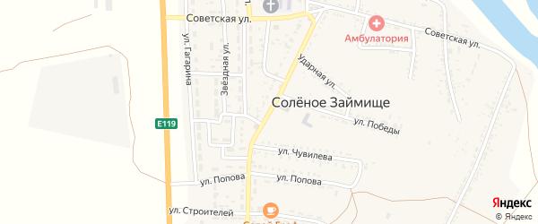 Революционная улица на карте села Соленого Займища Астраханской области с номерами домов