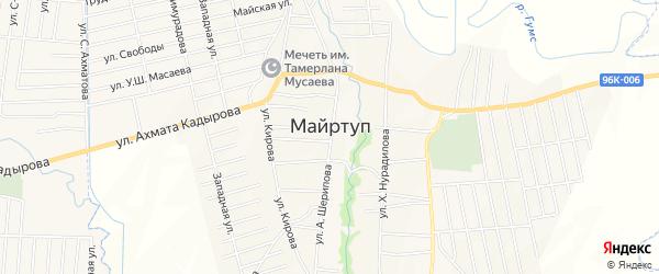 Карта села Майртуп в Чечне с улицами и номерами домов