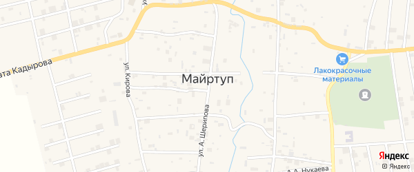 Улица М.Мадаева на карте села Майртуп с номерами домов